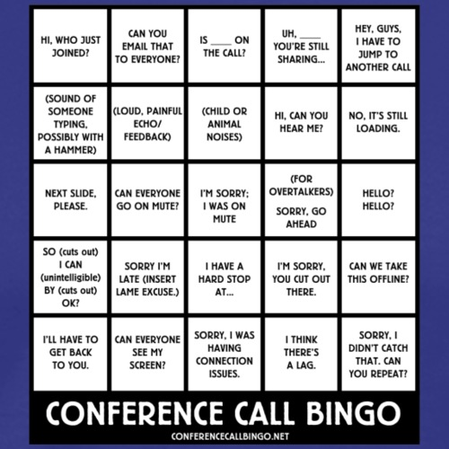 Conference Call Bingo: the Game - Men's Premium T-Shirt