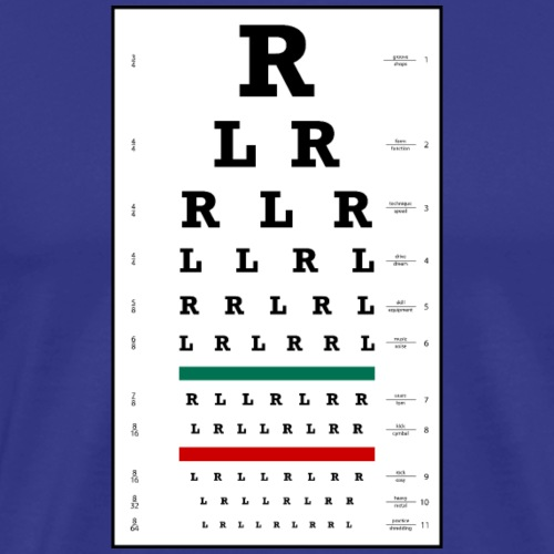 Drummers Eye Chart - Men's Premium T-Shirt