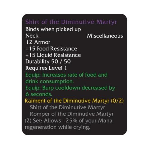 Warcraft Baby: Shirt of the Diminutive-Martyr - Men's Premium T-Shirt
