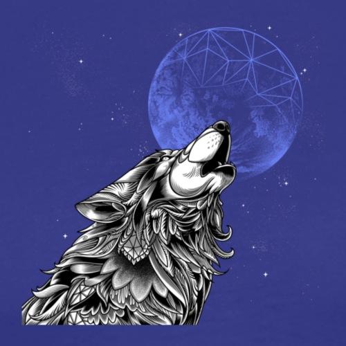 Moon wolf, Wolf with moon, Moon wolf art - Men's Premium T-Shirt