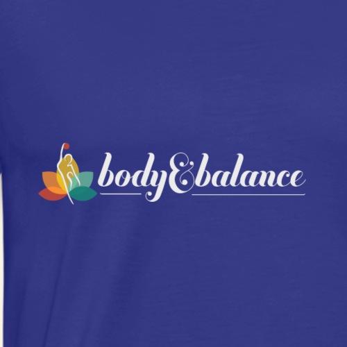 body and balance logo white text - Men's Premium T-Shirt