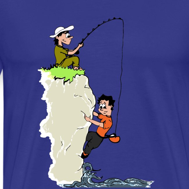 climbing tshirt vector dws fisherman col