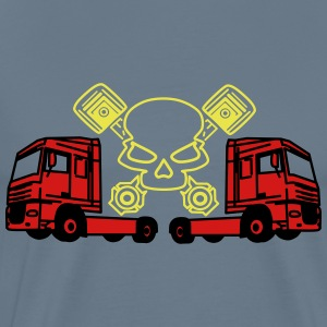 Piston Skull and Trucks - Men's Premium T-Shirt