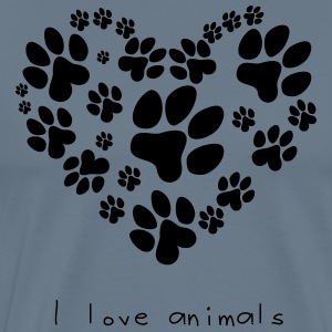 Funny Pets - I Love Animals - Men's Premium T-Shirt