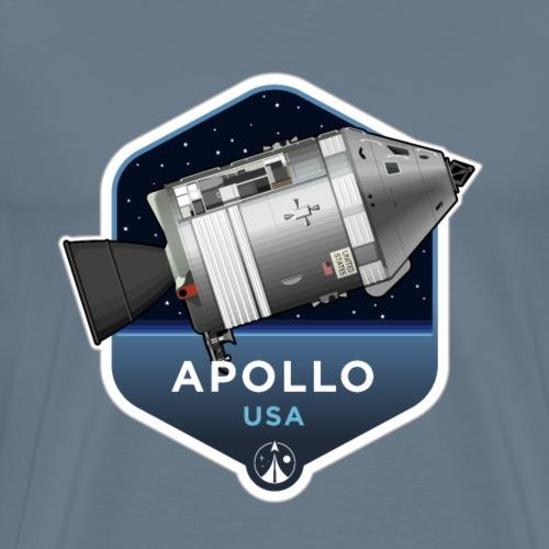 Space Race Series: APOLLO (large print) - Men's Premium T-Shirt
