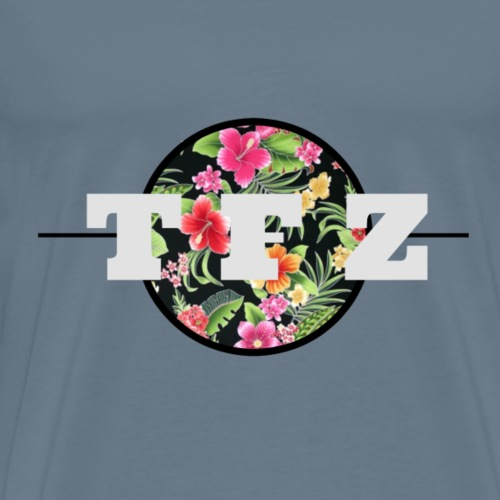 Floral TFZ Logo - Men's Premium T-Shirt