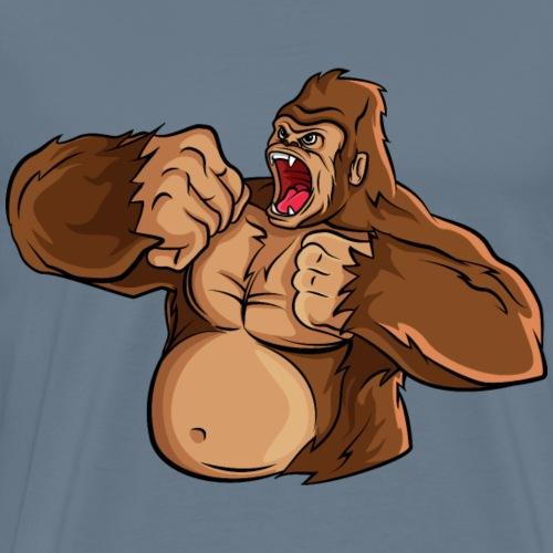 Monkey animal gorilla wildlife cool vector image - Men's Premium T-Shirt