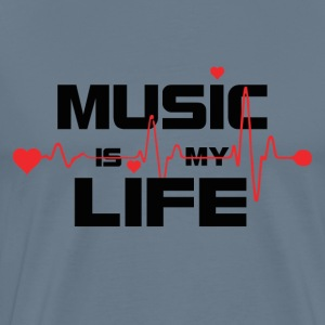 music_is_my_life_design - Men's Premium T-Shirt