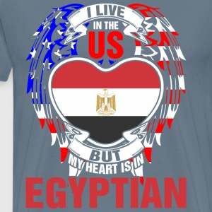 I Live In The Us But My Heart Is In Egyptian - Men's Premium T-Shirt