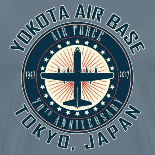 Yokota Air Base 70th Anniversary Design - Men's Premium T-Shirt