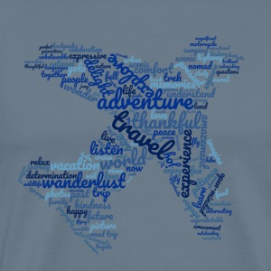 travel2 - blue - Men's Premium T-Shirt