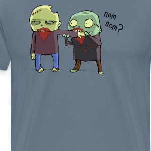 cannibal nom nom zombie - Men's Premium T-Shirt