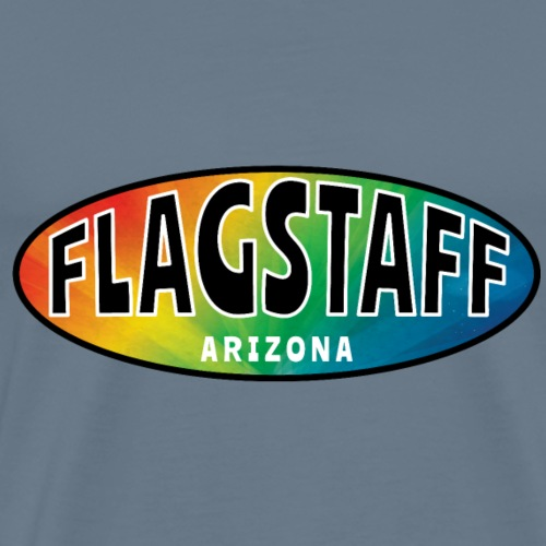FLAGSTAFF ARIZONA Rainbow Oval - Men's Premium T-Shirt