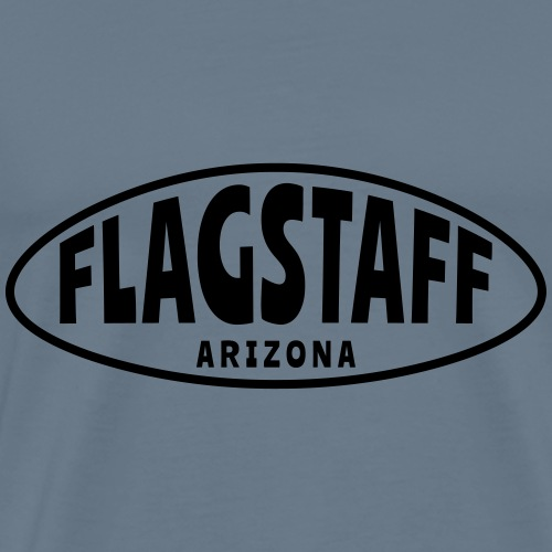 FLAGSTAFF ARIZONA oval - Men's Premium T-Shirt