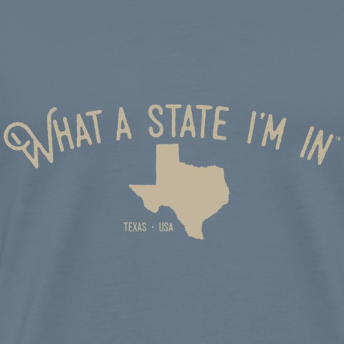 What a state I'm in. - Texas - Men's Premium T-Shirt