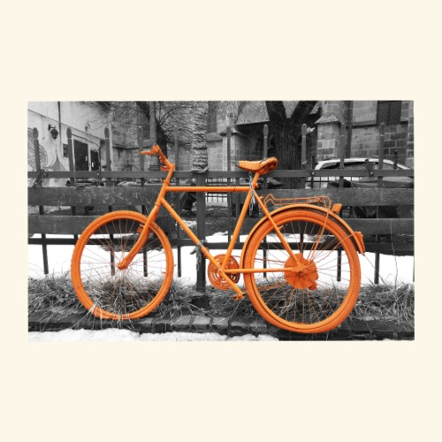 Orange Bike - Men's Premium T-Shirt