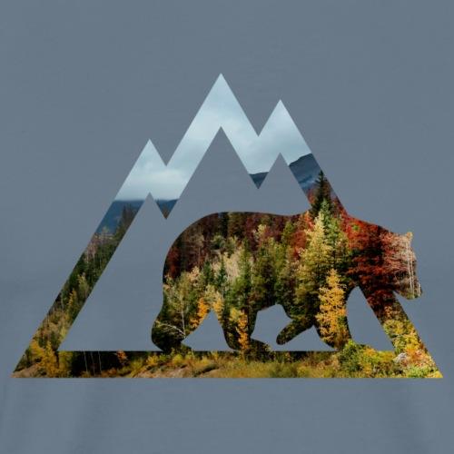 Autumn Grizzly (Archery by BOWTIQUE) - Men's Premium T-Shirt