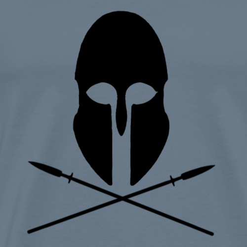 Greek Helmet and Crossed Spears - Men's Premium T-Shirt