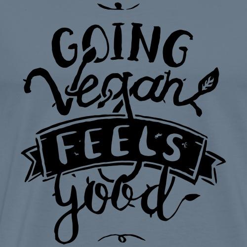 Going Vegan Feels Good - Men's Premium T-Shirt
