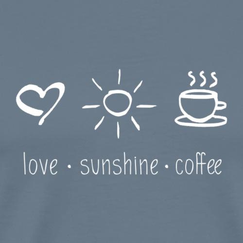 Love Sunshine Coffee - Men's Premium T-Shirt