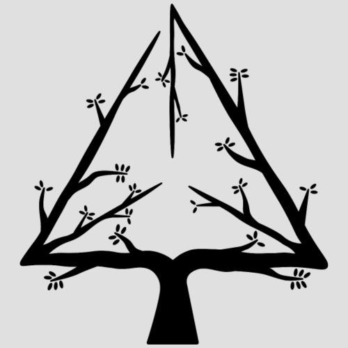 Geometree Tetrahedron - Black - Men's Premium T-Shirt