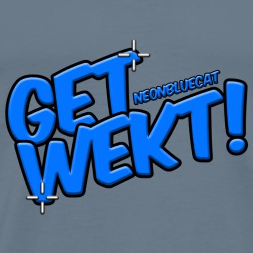 GET WEKT! (NEONBLUECAT) - LOGO - Men's Premium T-Shirt