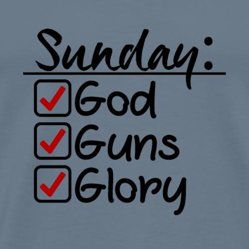 Sunday Checklist - Men's Premium T-Shirt