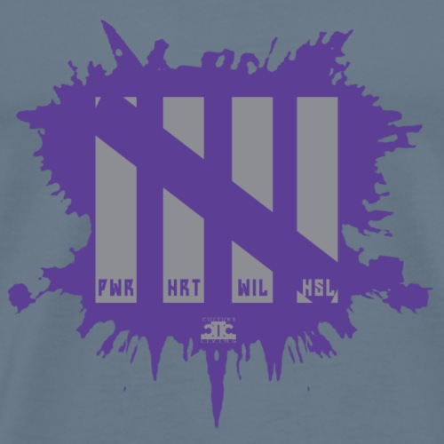 Attributes Gray/Purp - Men's Premium T-Shirt