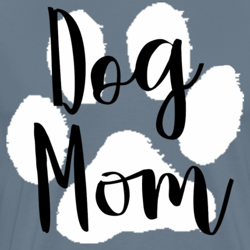 Dog Mom (White Paw) - Men's Premium T-Shirt