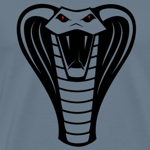 Cobra Snake with Red Eyes, Hood, Fangs - Men's Premium T-Shirt