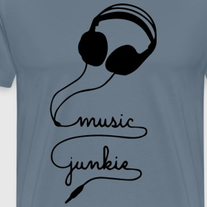 MUSIC JUNKIE - Men's Premium T-Shirt