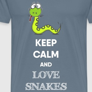 KEEP CALM AND LOVE SNAKES - Men's Premium T-Shirt