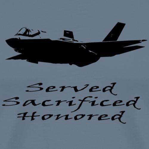 Airforce Served Sacrificed Honored - Men's Premium T-Shirt