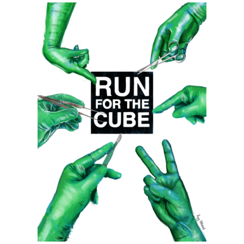 Runforthecube - Green Gloves Logo - Men's Premium T-Shirt