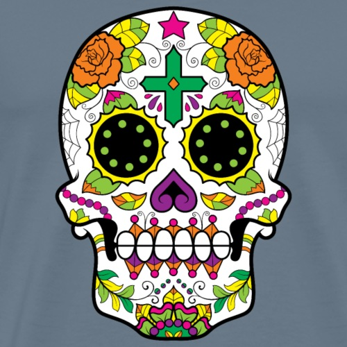 Cross Sugar Skull - Men's Premium T-Shirt