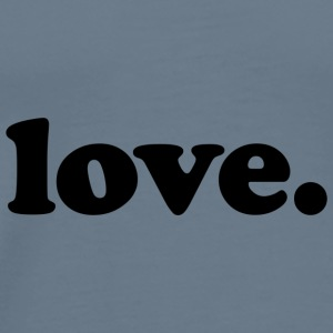 Love - Fun Design (Black Letters) - Men's Premium T-Shirt