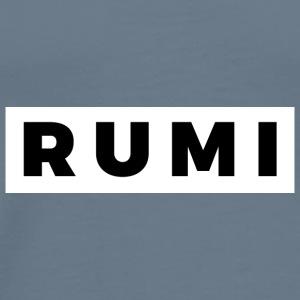 Rumi (Black/White Border) - Men's Premium T-Shirt