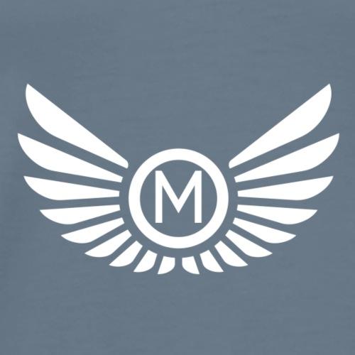 Mankeff White Logo - Men's Premium T-Shirt