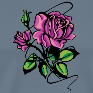 purple_roses - Men's Premium T-Shirt