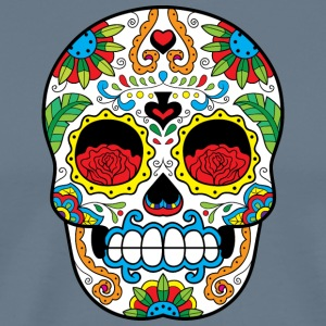 sugar_skull_with_roses_in_eyes - Men's Premium T-Shirt