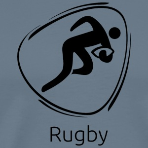Rugby_black - Men's Premium T-Shirt