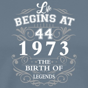 Life begins 44 1973 The birth of legends - Men's Premium T-Shirt