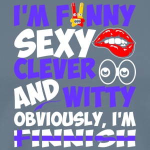 Im Funny Sexy Clever And Witty Im Finnish - Men's Premium T-Shirt