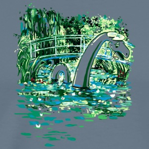 Water Lilies and Nessy - Men's Premium T-Shirt