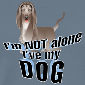 I am not alone i have my dog 3 - Men's Premium T-Shirt