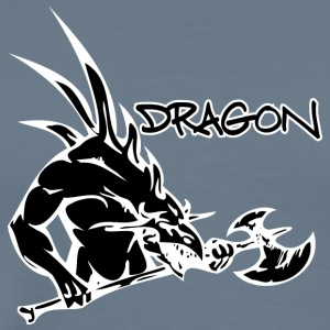 dragon_with_axe_black - Men's Premium T-Shirt
