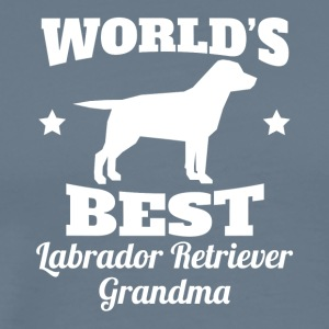 Worlds Best Labrador Retriever Grandma - Men's Premium T-Shirt
