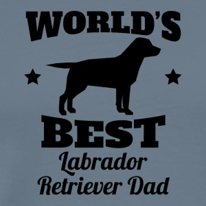 World's Best Labrador Retriever Dad - Men's Premium T-Shirt