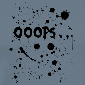 Oops text with ink splatter - Men's Premium T-Shirt