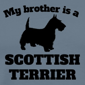 My Brother Is A Scottish Terrier - Men's Premium T-Shirt